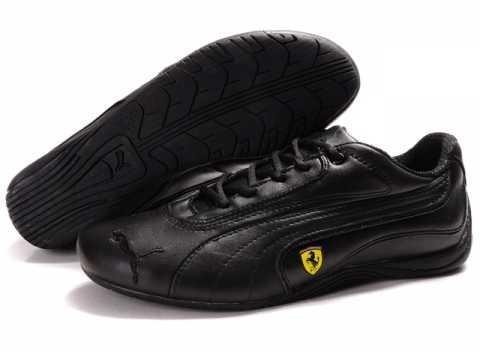 basket puma cuir noir